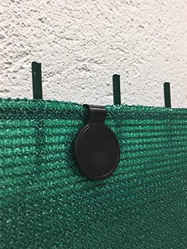 edenvista 60 Clips de fijación para Mallas de ocultación de 90 a 350 g/m2 (Bolsa de 60 Piezas, Negro)