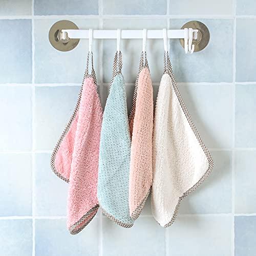 Doble cara No se caiga el pelo trapos absorbentes grueso coral terciopelo limpiar mano cocina baño toalla absorbente toalla pañuelo
