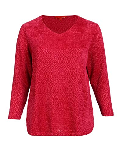 THEA by Adler Mode Damen, Unisex Chenille-Pullover pink 58