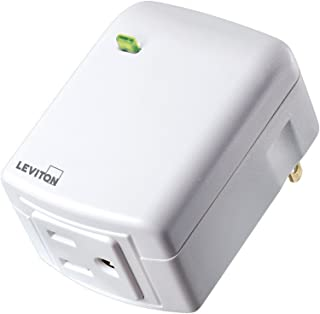 Leviton DZPA1-2BW Decora Smart Plug-in Outlet with Z-Wave Technology, White, Repeater/Range Extender