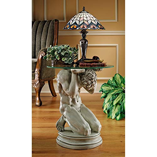 Design Toscano Neoclassical Male Occasional End Table