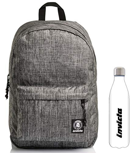 Carlson 2Tone Invicta Backpack Grey + White Water Bottle