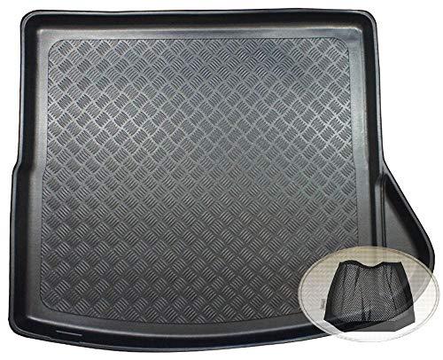 ZentimeX Z3327388 Geriffelte Kofferraumwanne fahrzeugspezifisch + Klett-Organizer (Laderaumwanne, Kofferraummatte)