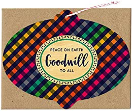 product image for Night Owl Paper Goods Goodwill Gingham Real Wood Ornament Holiday Card