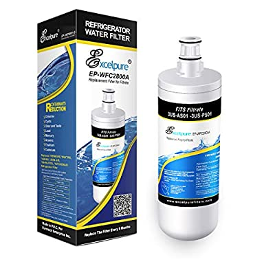 EXCELPURE Premium 3US-AF01 Undersink Standard Water Filter Replacement Compatible W/ 3M Filtrete 3US-AF01, 3US-AS01, 3US-PF01, 3US-PS01, Whirlpool WHCF-SRC, WHCF-SUFC, WHCF-SUF - 1PACK