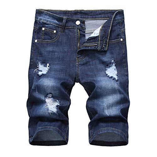 GQDP Jeans Herren Sommer Mid-Waist Persönlichkeit Retro Elastic Multicolor