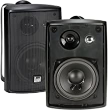 Dual Electronics LU43PB 3-Way High Performance Outdoor Indoor Speakers with Powerful Bass..