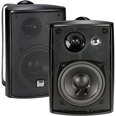 Dual Electronics LU43PB 4 inch 3-Way High Performance Indoor, Outdoor & Bookshelf Studio Monitor Speakers with Swivel Brackets & 100 Watts Peak Power (Sold in Pairs)