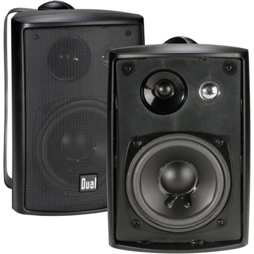 Dual Electronics LU43PB 3-Way High Performance Outdoor Indoor Speakers...