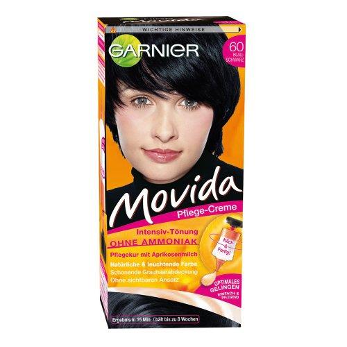 Garnier Movida Haarfarbe Intensiv-Tönung 60 Blauschwarz, 1er Pack