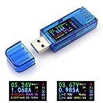 AT34 USB 3.0 Tester Power Meter, 3.7-30V 0-4A Voltage USB Tester Multimeter, USB Current Meter Tester, USB Charger Tester, IPS Color Display Voltmeter Ammeter