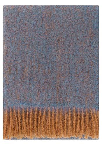 Lapuan Kankurit Revontuli Mohair-Wolldecke 130x170 cm rost, Jeansblau