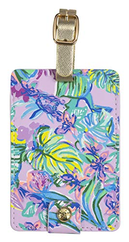 Lilly Pulitzer Women's Leatherette Luggage Tag, Mermaid in the Shade, One Size