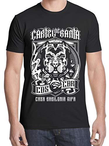 PEIJUNLAI T Shirts for Men G-B05 Cartel De Santa Funny Novelty Tops Mens tee Shirts S