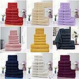 Voice 7 Juego de toallas de algodón egipcio de 10 piezas de regalo (4 manos + 4 caras + 2 toallas de baño) absorbente rápido y fácil de secar, para el hogar y la profesión (rojo)