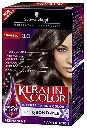 Schwarzkopf Keratin Color Permanent Hair Color Cream, 3.0 Espresso