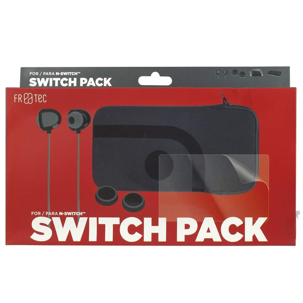 FR·TEC - Pack De Bolsa De Transporte, Auriculares, 2 Grips Y Protector De Pantalla - Nintendo Switch: Amazon.es: Videojuegos