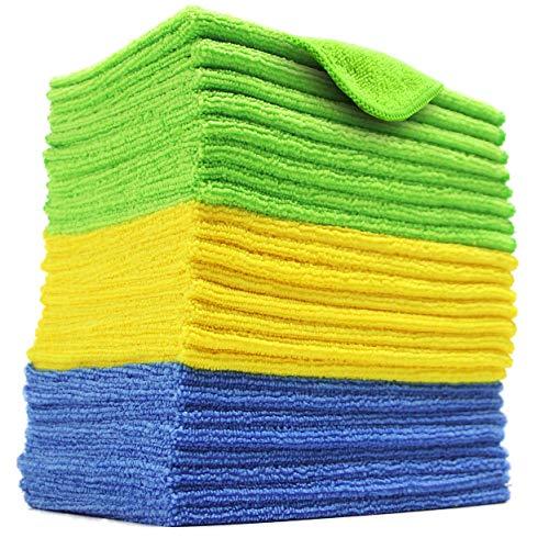 Polyte - Mikrofaser-Reinigungstücher - Blau, grün, gelb - 31 x 41 cm (24 Stück)