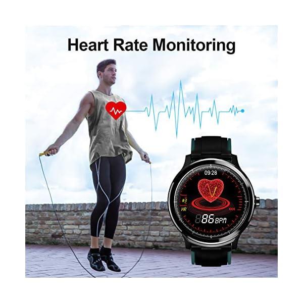 GOKOO Bluetooth Smartwatch Hombre Reloj Inteligente Fitness IP68 Impermeable Actividad Monitor Pulsómetro Compatible con… 10