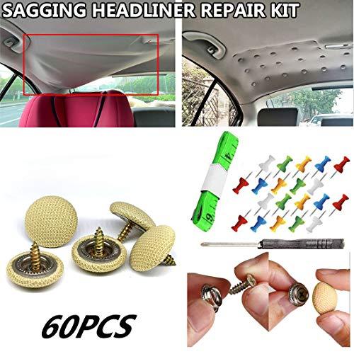 60 pcs Sagging Headliner Repair Buckle Pins Rivets Roof Repair Button For...