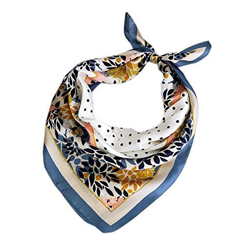 Kentop Mujer Elegante Pañuelos de Seda de Imitacion Suave de la Sensación de Satén Plaza Bufanda Banda Decorativa
