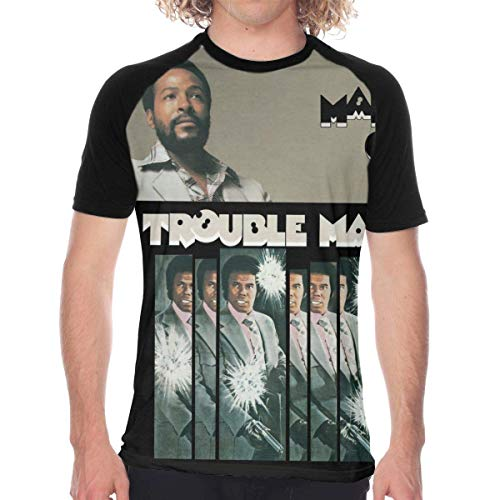 Welikee Camiseta, Manga Corta, Marvin Gaye Trouble Man Casual and Comfortable Summer Essential Men's T-Shirt
