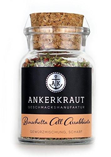 Bruschetta Arrabbiata, Gewürzmischung für pikanten Bruschetta Brotaufstrich, 50g im Korkenglas