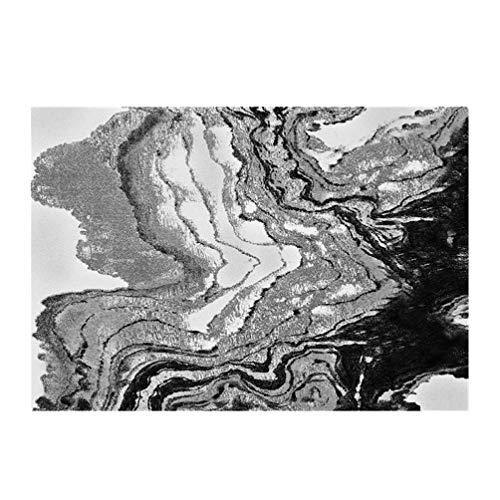 Alfombra alfombra de la sala de estar grande Alfombras alfombra de la vendimia abstracta moderna de la manta de área, Colección de rayas naranja textura rústica Tonos, contemporáneo Sala antideslizant