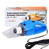 Keekos Powerful Portable & High Power 12V Vacuum Cleaner for Car and Home Wet and Dry Car Vaccum Cleaner Multipurpose Vaccum Cleaner for Car Cleaning Plastic (Black)