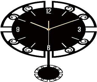 ラウンドクラシック時計現代プレキシガラスリビングルームのウォールクロックサンミュートクリエイティブウォールクロック (Color : B)