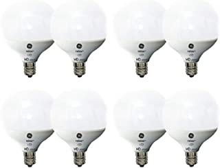 GE Lighting LED Relax HD, G16 Light Bulb with Candelabra Base, Frosted Finish (40W, 8 Bulbs)