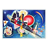 CanvasArts Im Blau Wassily Kandinsky - Poster (120 x 80 cm,