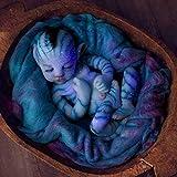 30/55cm Ojos Cerrados Muñeca Silicona con Luminosa, Bebé Renacido Muñeca Realista Muñeca Bebé, Las Extremidades Son Suaves y Flexibles Realista Bebé Reborn, Regalo