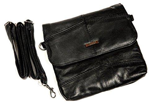 Lorenz - kleine handtas gemaakt van zacht nappaleder, zwart, met 1 lus