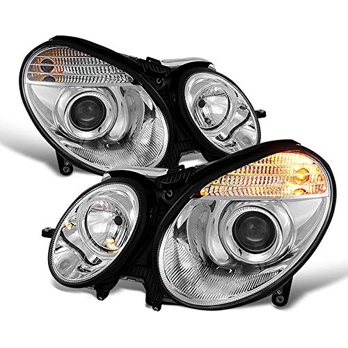 ACANII - For [Halogen Model] 2003-2006 Mercedes Benz W211 E320 E350 Chrome Projector Headlights Headlamps Left+Right