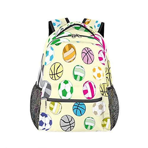 Mochila con patrón de bola enriquecida personalizada, para libros, mochila de ocio para adolescentes y niñas, mochila para ordenador portátil, atlética, camping, viajes, escuela, mochila impermeable
