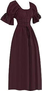 SuperXC Women's Victorian Fancy Dress Gothic Pageant Dress Retro Medieval Cosplay Dresses Renaissance Costumes