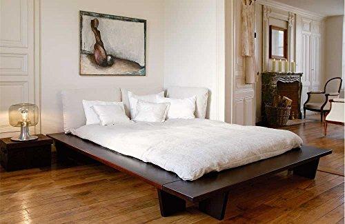 shogazi  Schlafkultur Futonbett KEDIA I - multifunktionales Designerbett - Buche massiv auf Nussbaum gebeizt, Größe:200x210cm