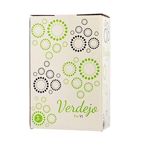 Bag in Box vino blanco verdejo 3 Litros afrutado seco caja de vino blanco con grifo Verdejo Paz VI