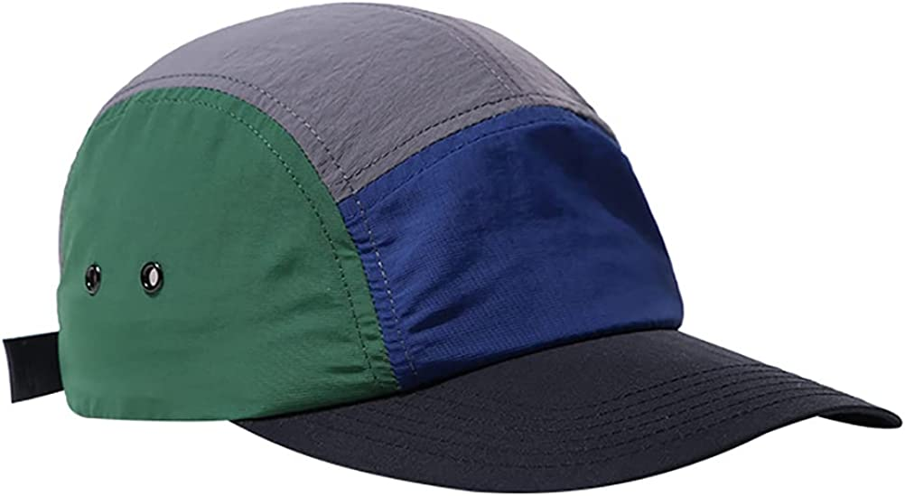 Gudessly Quick-Drying Hat Baseball Cap for Men Women Five Pieces of Spliced Cap Outdoor Sunshade Sports Hat