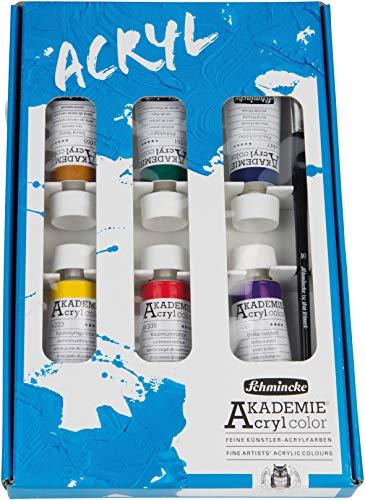 Schmincke Akademie Acryl Kartonset 6 x 60 ml Acrylfarben wasserfest 76 744 097