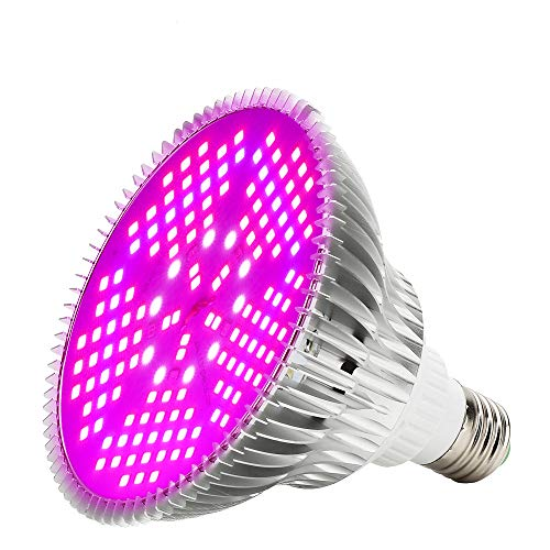 Pflanzenlampe Grow Light 100W LED Wachstumslampe E27 Vollspektrum Pflanzenleuchte für Garten Gewächshaus Zimmerpflanzen, Blüte, Blumen und Gemüse