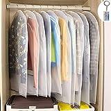 10st. Kleidersäcke Kleiderhülle transparent 120/100 cm lang Staub Schutz für Mantel Anzug...