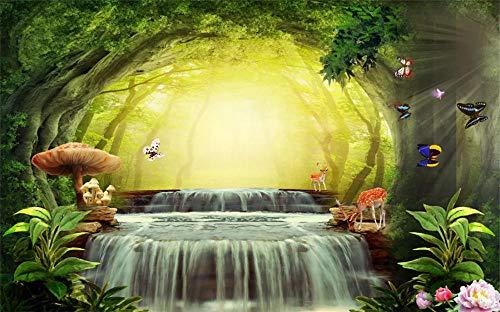 NoNo Kinder Holzpuzzle 1000 Teile, Fantasie Waldschmetterling, Wasserfall, Pilz, 1500/1000/500/300 Teile, Brain Challenge Spiele