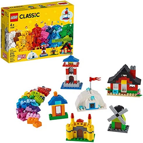 LEGO Classic Bricks and Houses 11008 Kids Building Toy Starter Set with Fun Builds to Stimulate product image