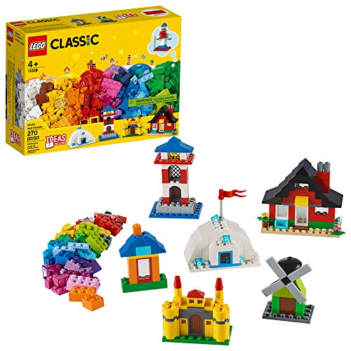 LEGO Classic Bricks and Houses 11008 Kids? Building Toy Starter Set with Fun Builds to Stimulate Young Minds, New 2020 (270 Pieces)
