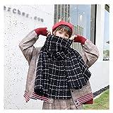 Lujo Bufanda Tela escocesa larga Manta Chunky de gran tamaño invierno caliente de la caída de las mujeres cuadros regalos del abrigo del mantón de la bufanda de moda joven de vacaciones Gran Regalo