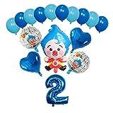 JSJJATF Globos 15 UNIDS PLIM PLIM PLIM Foil Balloons 30 Pulgadas Número Air Globos Niños Cumpleaños Tema Decoraciones de Fiesta Set Niños Juguetes Regalo (Color : 2)