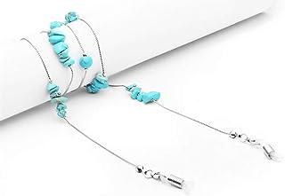 Turquoise Perles Serpent Mince Lien Chaîne Lunettes Chaînes Lunettes De Lecture Lunettes De Soleil Bracelet Cordon Cou Por...