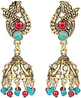 Bijoux Egypte Antique Jolie Parure Collier et Boucles doreilles Cl/éop/âtre avec Cristaux et cha/înes
